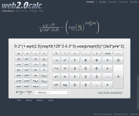 Web 2.0 scientific calculator | Math sites for Middle Schoolers | Scoop.it