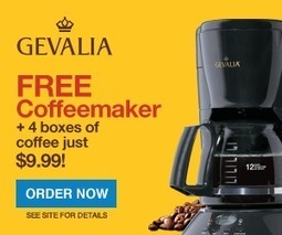 $9.99 for 4 Boxes of Gevalia Coffee + a FREE Coffee Maker | Coffee Fanatic | Scoop.it