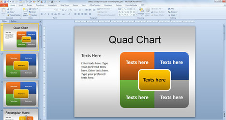 Free Quad PowerPoint Template | fun | Scoop.it