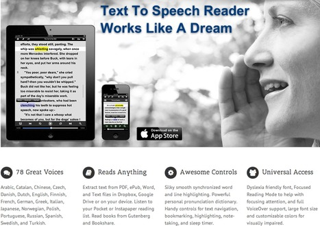 Voice Dream: Text To Speech App | PKM | Scoop.it