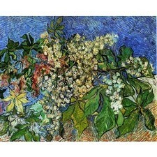 Oil painting on canvas Vincent van Gogh Blossoming chestnut branches | Oil paintings | Scoop.it