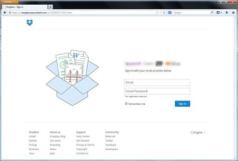 Dropbox users targeted by phishing scam hosted on Dropbox | Software Security | Scoop.it