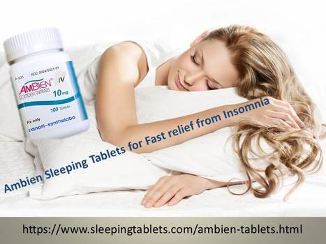 Ambien Sleeping Tablets - Important Safety Tips to Consume Them | Solution of Sleeping Disorder (Insomnia) | Scoop.it