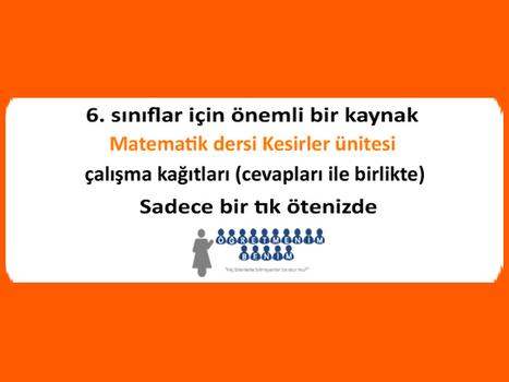 6. sınıf matematik dersi, kesirler ünitesi soru ve cevapları - Öğretmenim Benim | The Educational Portal of the Turkey | Scoop.it