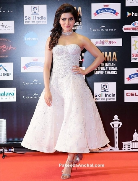 Samantha Ruth Prabhu in Off Shoulder White Gown at SIIMA Awards | Indian Fashion Updates | Scoop.it