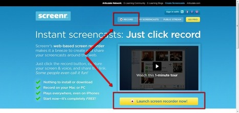 Screenr - web based screencasts | Moodle and Web 2.0 | Scoop.it