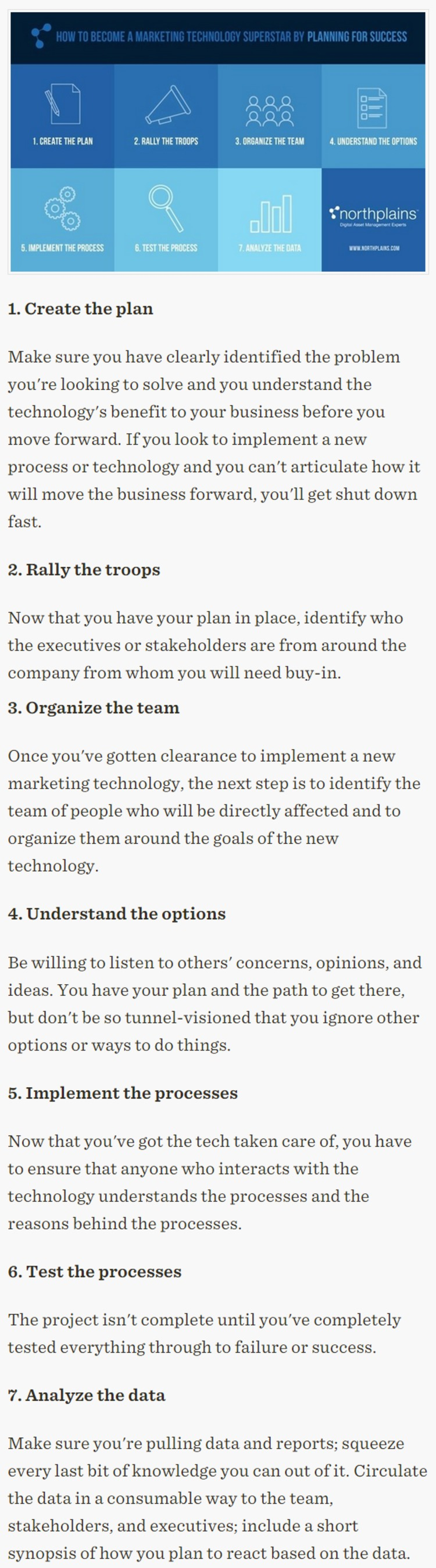Seven Steps to Successful Marketing Technology Adoption - Profs | The Marketing Technology Alert | Scoop.it