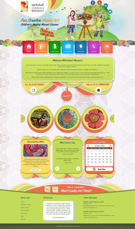 Responsive Website Template | Graphics Design Services | Scoop.it