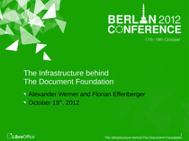 The Infrastructure behind The Document Foundation // Speaker Deck | TDF & LibreOffice | Scoop.it