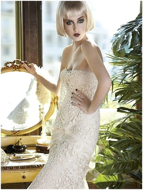 1920s wedding dress inspiration from Yolan Cris ~ Mademoiselle Vintage - Want That Wedding | fashiondresses | Scoop.it