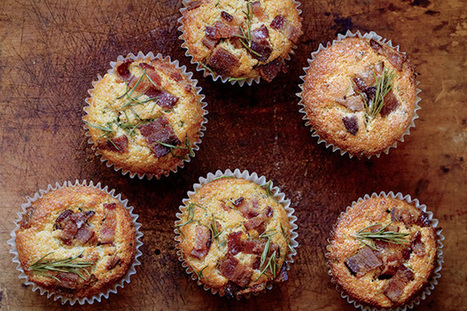 Bacon-Cheddar Muffins  Recipe | Epicurious.com | ♨ Family & Food ♨ | Scoop.it