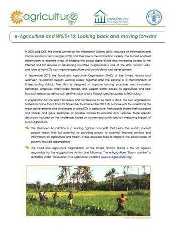 """Policy Brief: """"e-Agriculture and WSIS+10: Looki...   NGOs in Human Rights, Peace and Development   Scoop.it"""