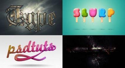 20 tutoriales de efectos para texto en Photoshop   Education Library and More   Scoop.it