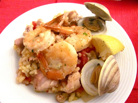 Seafood Paella with Chicken and Hot Sausage Recipe | @FoodMeditations Time | Scoop.it