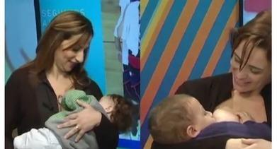 Conductoras de televisión amamantaron a sus hijos en vivo | Salud Publica | Scoop.it