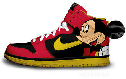 Mickey Mouse Nike Dunks New [disney-shoes-1006] - $79.00 : DC Comic Dunks ,Marvel Comic Dunks, Superhero Nike Dunks Shoes ,Superman ,Batman ,Spiderman,Captain America Nikes | Mickey Mouse Nike Dunks | Scoop.it