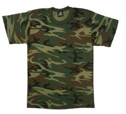 Woodland Camouflage Military T-Shirt (Polyester/Cott on) USA Made Size Medium | Military Surplus Center | Scoop.it
