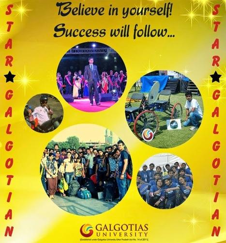 Believe in yourself! Success will follow | Galgotias University | Scoop.it