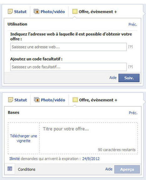 Facebook Offers : le couponing Facebook ouvert à tous | La communication digitale, Modedemploi | Scoop.it