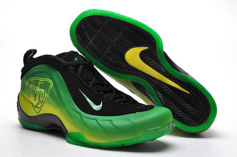 Nike Flightposite 5 Black and Green Sneakers Mens | new and share list | Scoop.it