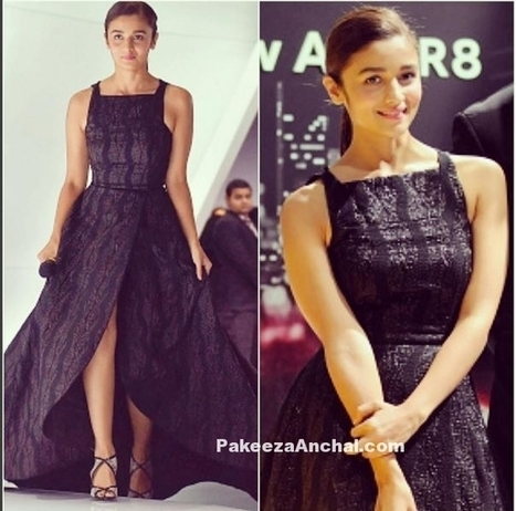 Alia Bhatt in Prabal Gurung's Flared Black Gown at Audi R8 launch | Indian Fashion Updates | Scoop.it