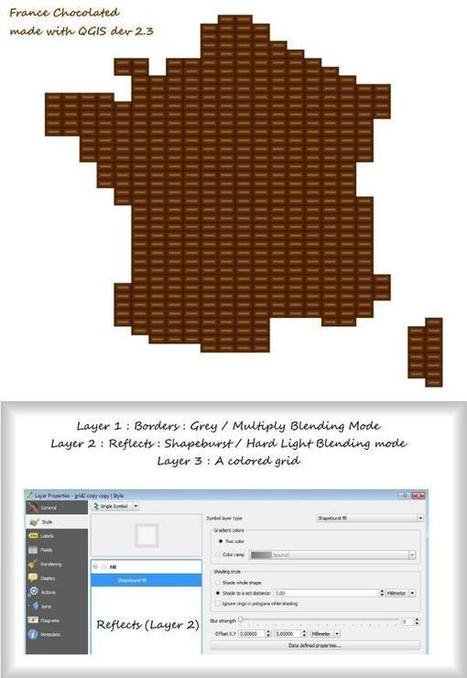 How to chocolatify France with #QGIS by @datagistips | StylingM@p | Scoop.it