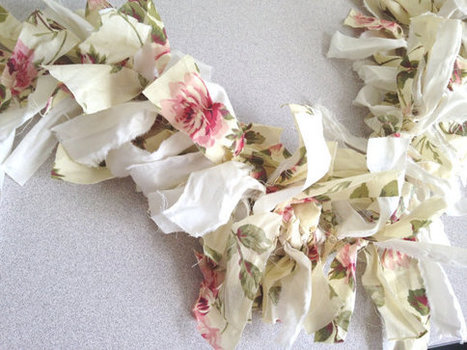 Tea Party, Summer Pink Rose French Country Garland Fabric Banner Rag Tie bunting streamers fabric pale yellow Wedding backdrop photo prop | Candy Buffet Weddings, Events, Food Station Buffets and Tea Parties | Scoop.it