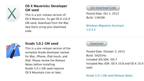 Apple OS X Mavericks Gold Master Is Out   Technology   Scoop.it