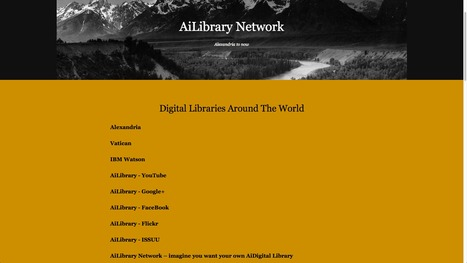 AiLibrary Network | Alexandria Library to now | EDU Plan | Scoop.it