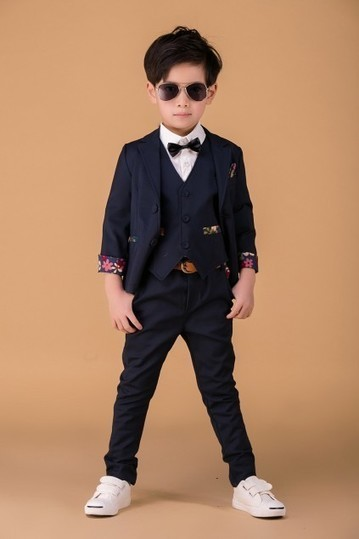 Fashionable Navy Blue Summer Party Clothing Set for Kids in India | Online Baby Accessories | Scoop.it