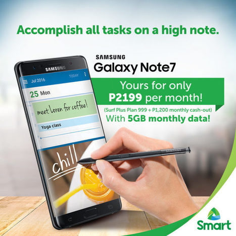 Get the Samsung Galaxy Note 7 on Smart Postpaid Plans | NoypiGeeks | Philippines' Technology News, Reviews, and How to's | Gadget Reviews | Scoop.it