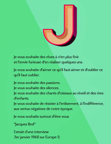 Les voeux de Jacques Brel ( 1er janvier 1968 ) | Remue-méninges FLE | Scoop.it