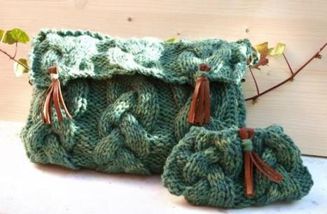 Kit para tejer un bolso con lana 100% merina coloreada con tintes naturales   Agricultura ecológica y tintes naturales   Scoop.it