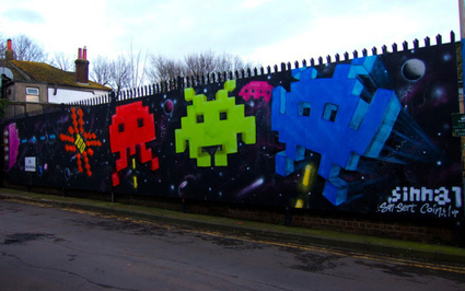 Brighton Street Art - Space Invader   All Geeks   Scoop.it