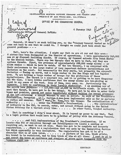 primary source:#1 a letter from eisenhower  about the japanese | Japanese interment | Scoop.it