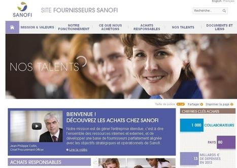 Sanofi lance son site internet fournisseurs - Décision Achats   purchasing improvement   Scoop.it