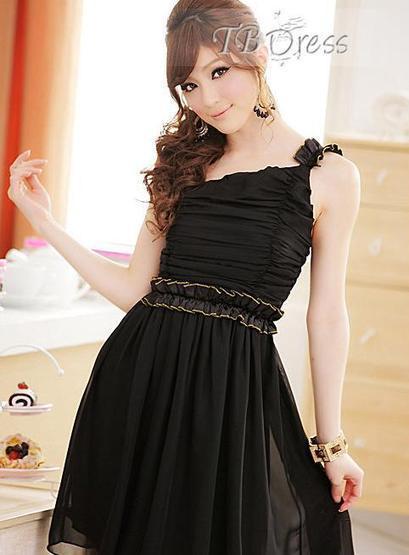 $ 16.09 Modern Plait  One Shoulder Dress   lovely   Scoop.it