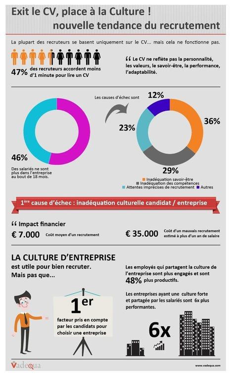 Infographie - Exit le CV place à la Culture d'entreprise ! | Viadeo & Linkedin | Scoop.it