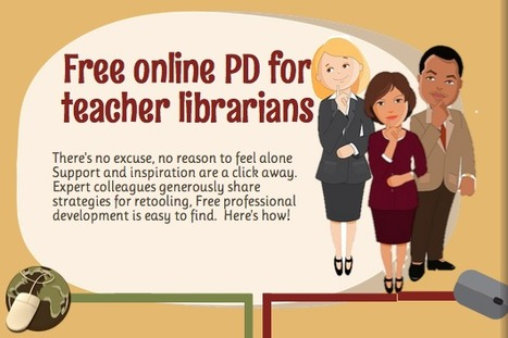 Free PD for Teacher Librarians | Infographic  | @joycevalenza | Librarians and literacy | Scoop.it