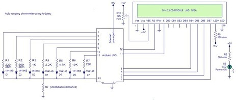 OhmMeter using Arduino – with Auto Ranging Feature | Open Source Hardware News | Scoop.it