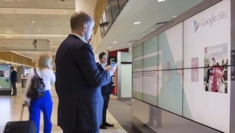 Google's Futuristic Airport Billboards Are Interactive, Allow You To Download Content | future science | Scoop.it