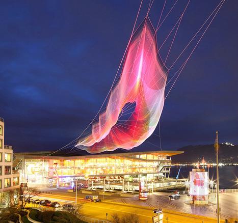 janet echelman and google weave an interactive sculpture in the sky - designboom   architecture & design magazine   Intriging in Textiles   Scoop.it