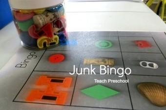 DIY Junk bingo game for preschool | Teach Preschool | Scoop.it
