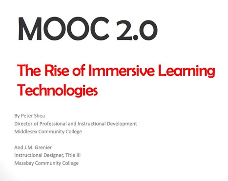 [PDF] MOOC 2.0: The rise of immersive learning technologies | Edumorfosis.it | Scoop.it