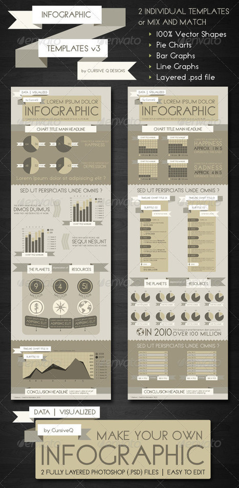 Mix and Match Infographic Templates .PSD - Infographics on Creattica: Your source for design inspiration | photoshop | Scoop.it