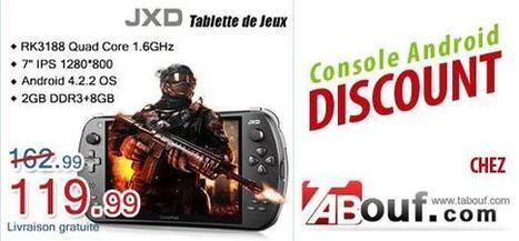 PROMOTION sur la tablette / Console android : JXD S7800B | Les bons Plans de tablettes Android | Scoop.it