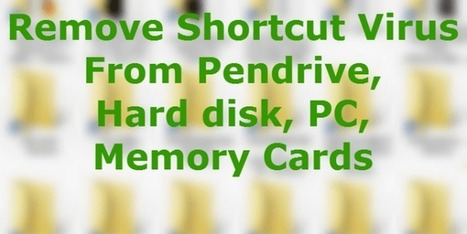 How To Remove Shortcut Virus From Pendrive, Hard disk, PC, Memory Cards | WWW.CODETOUNLOCK.COM -Technology Magazine | Scoop.it
