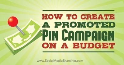 How to Create a Promoted Pin Campaign on a Budget | Pinterest for Business | Scoop.it