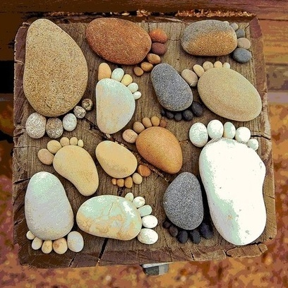 I want to make these into stepping stones for the garden   FanPhobia - Celebrities Database   Tattos and Jewelry   Scoop.it