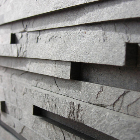 Slate-like Tiles Made From Recycled Scrap Paper Laminate - Design Milk | Matériaupôle | Scoop.it